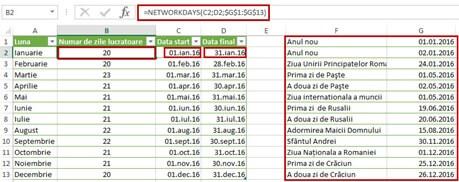 luna - networkdays