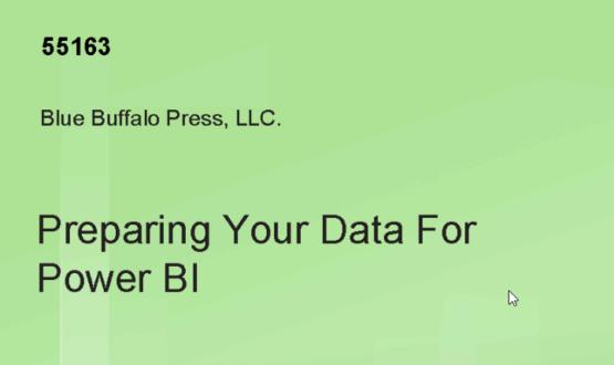 Curs 55163 - Preparing Your Data for Power BI